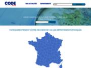 screenshot https://code-postal-villes.com/ Code postal ville