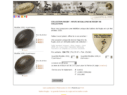 Collection rugby : vente de ballon de rugby ancien en cuir