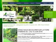 screenshot http://www.collomb-createurjardin.fr/ projets d'aménagements paysagers