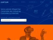 screenshot http://www.comcom.fr cabinet d'expertise comptable - com' com, synthex, salarium - groupe sej expert