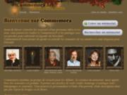 screenshot http://www.commemora.fr commemora, le livre des souvenirs