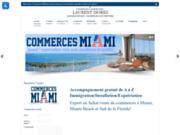 screenshot http://commercesmiami.com/ investir dans un commerce à Miami