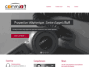 screenshot http://www.commsoft.fr marketing opérationnel b to b, développement ccial