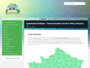 screenshot https://www.communespratique.fr communes de France