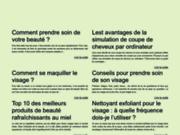 screenshot http://conseildebeaute.net/ conseils et astuces pour prendre soin