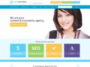 screenshot http://www.copypanthers.fr services de traduction.