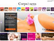 screenshot http://www.corpsetsens.com soins du corps homme et femme drôme montélimar