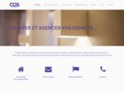 screenshot http://www.cos-agencement.com agencement travaux de rénovation