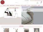 screenshot http://www.cote-enfants.com dépôt-vente de meubles et décoration pour chambre d'enfants.
