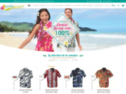 screenshot http://www.couleurtropiques.com chemise hawaienne