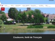 screenshot http://www.couleuvre-troncais.fr/ mairie de couleuvre - foret de troncais