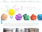 screenshot http://councelling.fr/ Cabinet de conseils en management et en leadership
