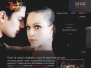 screenshot http://www.cours-de-danse-nicholas.com cours de danse: rock salsa tango valse - cours nicholas - toulouse