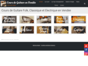 screenshot http://www.cours-de-guitare-vendee.com Leçons de guitare en Vendée