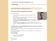 screenshot http://www.cours-de-mathematiques-37.fr/ cours-de-mathematiques-37