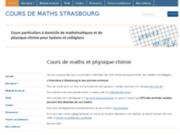 Cours particuliers et soutien scolaire en maths, physique et chimie