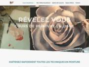 screenshot http://www.cours-de-peinture.com cours de peinture et dessin