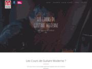 screenshot http://www.coursdeguitaremoderne.fr cours de guitare paris - méthode moderne - musique