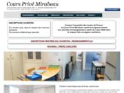 screenshot http://www.coursprivemirabeau.net cours privé mirabeau