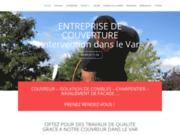 screenshot https://couvreur-var.com/ Couvreur dans le Var, réparation de toiture, charpente et façade
