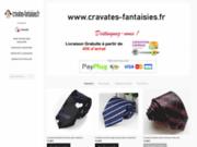 screenshot http://cravates-fantaisies.fr boutique de la cravate fantaisie
