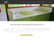 screenshot http://www.crea-diffusion.com/ plans de travail