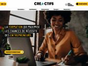 screenshot http://creactifs.com Formation en entrepreneuriat
