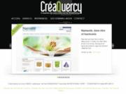 screenshot http://creaquercy.fr/ créaquercy, création de site internet