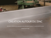 screenshot http://www.creation-autour-du-zinc.com atelier de création autour du zinc
