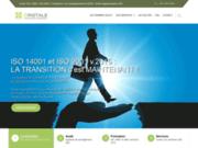screenshot http://www.cristale.fr certification ISO