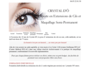 screenshot http://www.crystaldo.fr maquillage permanent crystal d'Ô