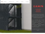 screenshot http://www.csm79.com fabricant escalier proche niort, parthenay 79