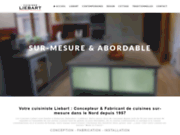 screenshot http://www.cuisines-liebart.com fabricant cuisine sur mesure, cuisine nord, cambrai, valenciennes solesmes romeries