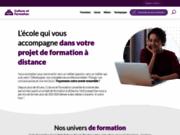 screenshot http://www.culture-formation.fr formation secrétaire médicale