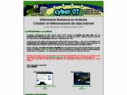 screenshot http://www.cyber07.com référencement en ardèche