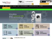 screenshot http://www.cyberpieces.com vente de pièces détachées electroménager