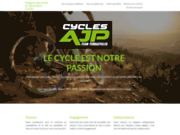 screenshot http://www.cycles-ajp.fr/ cycles ajp: magasin et boutique en ligne