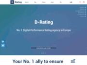 screenshot http://www.d-rating.com Performance numérique des entreprises