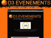 screenshot http://www.d3evenements.com d3 evenements