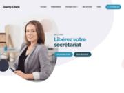 screenshot http://www.dacty-chris.com dacty-chris : secrétaire indépendante,