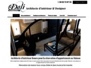 screenshot http://www.dali-renovation.fr Architecte d'intérieur à Rouen