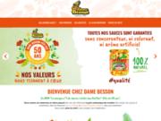 screenshot http://www.damebesson.com sauce créoline, sauce antillaise... dame besson: sauces piquantes de guadeloupe