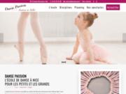 screenshot http://www.dansepassion.fr école de danse classique à nice centre