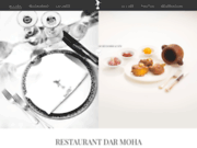 screenshot http://www.darmoha.ma restaurant marrakech