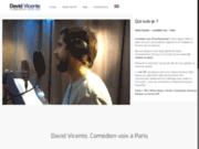 screenshot http://www.davidvicente-voix.com david vicente - comédien voix off