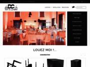 screenshot https://dcsonlumiere.fr/ Location sono et lumière