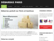 screenshot http://www.debarras-free.com debarras paris et rp - débarras et recyclage d'encombrants et de déchets sur paris et rp