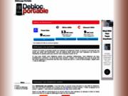 screenshot http://debloc-portable.com déblocage portable en ligne