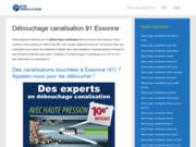 screenshot http://www.debouchage-canalisation-91.fr Débouchage 175 euro canalisation