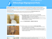 screenshot http://www.debouchagecanalisation.com/ plomberie - dépannage urgence débouchage
